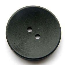 30mm Plain Black Wooden Buttons 2 holeSewing Coat Craft Stock B2