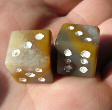15 mm  Stone Dice Kentucky agate rock d6 8977