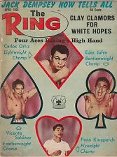 THE RING MAG CARLOS ORTIZ-EDER JOFRE-VICENTE SALDIVAR-PONE KINGPETCH APRIL 1965