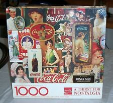 NEW 1982 COCA COLA SPRINGBOK SEALED 1000 PIECE PUZZLE - A THIRST FOR NOSTALGIA -