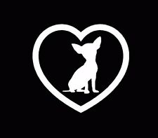 Chihuahua Love Dogs Decal Window Sticker Car Truck White
