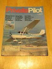 MAG BACK ISSUE PRIVATE PILOT DEC 1975 PIPERS RETRACT 6 & ARCHER II POT SMOKIN IN