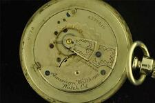 VINTAGE 18S WALTHAM POCKET WATCH GRADE 3 FROM 1890 KEEPING TIME