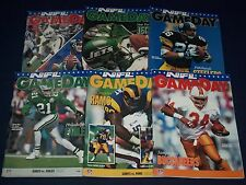 1993-1994 NEW YORK GIANTS GAME DAY PROGRAM LOT OF 15 - GREAT PHOTOS - O 2387