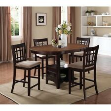 Coaster 105278 D-Dining Counter Height Table (Light Chestnut/Espresso) NEW