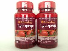 2 Puritan's Pride Lycopene 5mg 200 Softgels **Promotes Prostate & Heart Health**