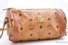 Authentic MCM Cognac Visetos Leather Vintage Shoulder Bag Brown  28149
