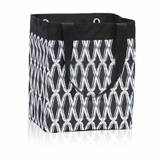Thirty One Essential Storage Tote Shopping Bag Beach Grocery Laundry Black Links