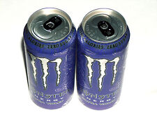 New Release 2 MONSTER Energy ULTRA VIOLET Zero Purple 16oz Full Drink Cans Coke