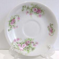 Elite Works Bone China Lemoges France Saucer Button Flowers