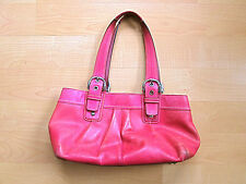 Coach hot pink leather long handle handbag purse G0973 F13732
