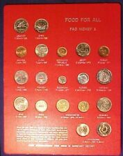 Fao Food for All Coin Set Number 1 - 19 Coins 1968 to 1971