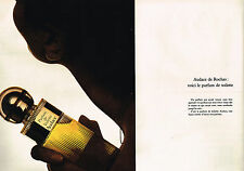 PUBLICITE ADVERTISING 015  1973  ROCHAS  parfum de toilette AUDACE  ( 2 pages)