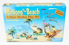 NEW Universal Studios Despicable Me Minions on the Beach 7-Piece Wooden Play Set