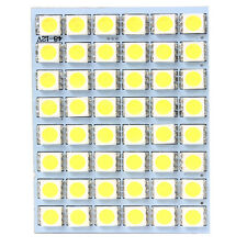 1x White 12V 48SMD 5050 LED Panel Light Lamp For Car Interior Dome Trunk Cargo