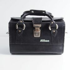 :) Nikon Black Leather Apollo 1 Bag for camera equipment or other