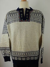 Vtg Dale of Norway Mens Nordic Icelandic Winter Jumper Sweater Size Large