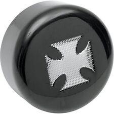 Rond Noir Housse Claxon Avec Croix De Malte Insert Pour Harley-Davidson