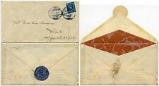 FINLAND 1945 FANCY ENVELOPE SPIDER WEBS + WAR WOUNDED CHARITY FUND SEAL