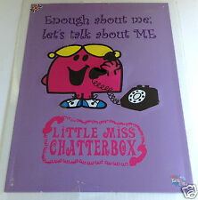 Retro Vintage Little Miss Chatterbox Stahl Dekorativ Wandschild Mr Men