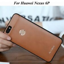 Brown Protective Soft PU Leather + TPU Back Case Cover For Huawei Nexus 6P S001