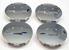 "(4) 2005-2013 Chevrolet 3.25"" Chrome Center Caps For 18"" 20"" 22"" Wheels 9596403"