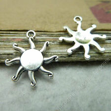 20x Charms Flower Sun Pendant Beads Findings Tibetan Silver Wholesale S539T