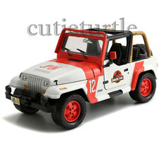 Jada Jurassic World JP Staff Jeep Wrangler 1:24 Diecast Model Car 97812 White