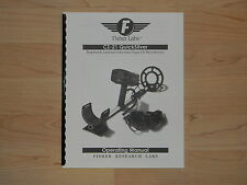 Fisher CZ-21 Quicksilver Deep Search Operating Manual  - #MD10