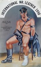 POSTER -GAY INTEREST- INTERNATIONAL MR LEATHER 1990- ARTIST ETIENNE - 24x36""
