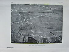 1918 WW1 WWI PRINT ~ ANVIL WOOD & FLORINA TRENCH AERIAL VIEW