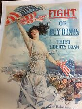 WWI War Bonds Poster by most famous Artist Howard Chandler Christy MY FAVORITE!