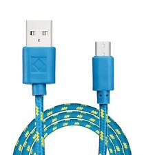 3M Strong Braided Micro USB Charger Cable Lead For Samsung/Sony/HTC/LG/Nokia BU