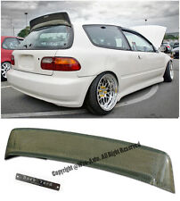 For 92-95 Civic EG6 3Dr BYS Style Roof Spoiler Wing Lip Kevlar Carbon + Emblems