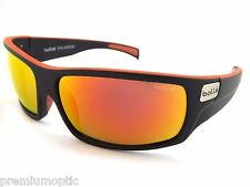 BOLLE Wrap Sunglasses TETRA 11707 Matt Black Red Line / POLARIZED TNS Fire Red