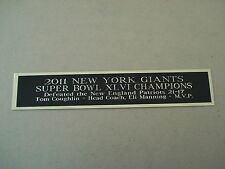 New York Giants Super Bowl 46 Nameplate For A Football Jersey Case 1.5 X 8
