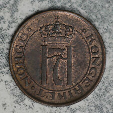 Nice Almost Uncirculated/Slider Norway 1913 1 Ore Copper Coin!!