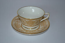 ROYAL WORCESTER EMBASSY WHITE & GOLD CUP & SAUCER