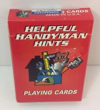 Rare Helpful Handy Man Hints Playing Cards USA Lessons Home Depot Contractor