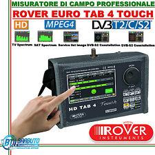 MISURATORE DI CAMPO ROVER TAB 4 TOUCH VERSIONE EURO 2016 DVBT2/C/S2 HD