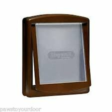 Staywell Petsafe 2 way locking medium dog pet door cat flap brown catflap 755