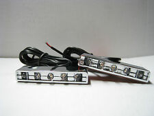 Universal Motorcycle LED TURN Signals Blinkers Indicators Bike Footrest Chrome R