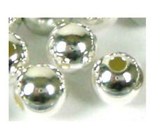 30 Round  6mm solid 925 Sterling Silver Seamless Bead Spacers  1.9mm hole S66
