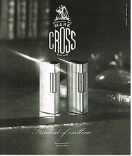 PUBLICITE ADVERTISING 084  1976  MARK CROSS  collection briquet argent