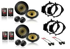 NEW S/4 PIONEER CAR TRUCK FRONT & REAR DOOR COMPONENT SPEAKERS W/ INSTALL KITS