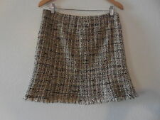 NWT Sz.3  Avenue Montaigne Metallic/Wool/Polyamide Mini Skirt