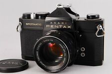 """Exc++"" Pentax spotmatic SP Black w/ SMC Takumar 55mm F/1.8 From Japan #0225"