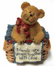 "Boyds #24705 ""Weaver"" Basketbearies Collection, 3-D greeting  BrandNew/MINT- BOX"