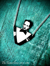 Klaus Nomi necklace goth new nu wave music jewelry black and white gothic devil