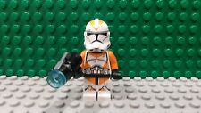 Lego Minifigura Star Wars 212th Clone Trooper Naranja Gral 75036 75013